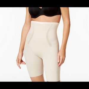 Maidenform high waisted thigh slimmer.